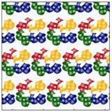 Teste padrão das cookies sob a forma dos mitenes com esmalte diferente ilustração stock