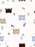 Teste padrão das corujas Fotografia de Stock Royalty Free