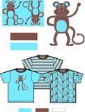 teste padrão das crianças do macaco   ilustração royalty free