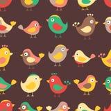 Teste padrão das crianças dos pássaros Fotografia de Stock Royalty Free