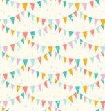 Teste padrão das festões Imagens de Stock Royalty Free
