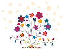 Teste padrão das flores Fotografia de Stock