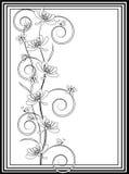 Teste padrão das flores e das borboletas Ilustração Stock