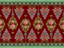 Teste padrão das flores e das folhas Imagens de Stock Royalty Free