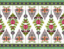 Teste padrão das flores e das folhas fotografia de stock
