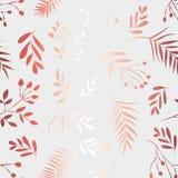 Teste padrão das folhas douradas em um fundo branco ilustração do vetor
