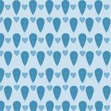 Teste padrão das folhas e dos corações Imagens de Stock Royalty Free
