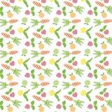 Teste padrão das frutas e legumes Imagem de Stock Royalty Free