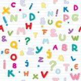 Teste padrão das letras Imagem de Stock