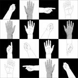 Teste padrão das mãos Fotografia de Stock Royalty Free