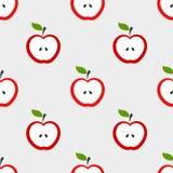 Teste padrão das maçãs Fotografia de Stock Royalty Free