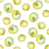 Teste padrão 2 das maçãs da aquarela Fotos de Stock Royalty Free