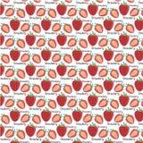 Teste padrão das morangos - ilustração do vetor Foto de Stock