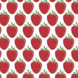 Teste padrão das morangos - ilustração do vetor Imagens de Stock Royalty Free