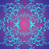Teste padrão das pétalas azuis Imagem de Stock