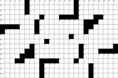 Teste padrão 1 das palavras cruzadas Imagens de Stock Royalty Free