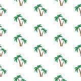 Teste padrão das palmeiras Fotografia de Stock Royalty Free