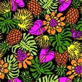 Teste padrão das plantas tropicais Imagens de Stock