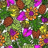 Teste padrão das plantas tropicais Imagem de Stock Royalty Free