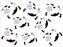 Teste padrão das vacas Fotografia de Stock