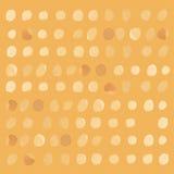 Teste padrão de às bolinhas do ouro amarelo sem emenda Fotos de Stock Royalty Free