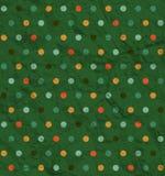 Teste padrão de às bolinhas no fundo verde Imagem de Stock