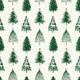 Teste padrão de árvores de Natal ilustração royalty free
