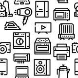 Teste padrão de ícones dos aparelhos eletrodomésticos fotos de stock royalty free