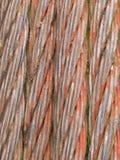 Teste padrão de aço oxidado velho da textura do fundo do cabo Imagem de Stock Royalty Free