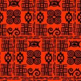 Teste padrão de Adinkra do africano Imagens de Stock Royalty Free