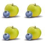 Teste padrão de Apple e do mirtilo ilustração stock