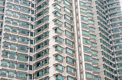 Teste padrão de balcões da sala de hotel na construção moderna Fotografia de Stock