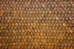 Teste padrão de bambu do weave Foto de Stock Royalty Free