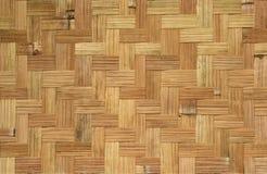 Teste padrão de bambu do weave Fotografia de Stock