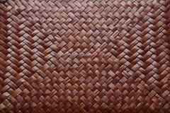 Teste padrão de bambu do weave Foto de Stock
