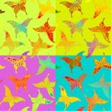Teste padrão de borboleta colorido sem emenda Fotografia de Stock Royalty Free