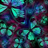 Teste padrão de borboleta de Swallowtail Fotografia de Stock Royalty Free
