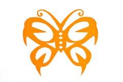 Teste padrão de borboleta do corte do papel Foto de Stock Royalty Free
