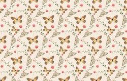 02 teste padrão de borboleta sem emenda ilustração do vetor