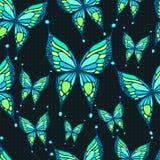 Teste padrão de borboleta sem emenda Fotos de Stock