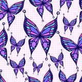 Teste padrão de borboleta sem emenda Imagens de Stock