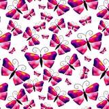 Teste padrão de borboleta sem emenda da aquarela Vetor Fotografia de Stock Royalty Free