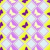 Teste padrão de borboletas ilustração stock