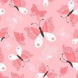 Teste padrão de borboletas bonito sem emenda Fotografia de Stock