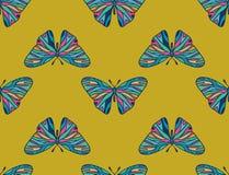 Teste padrão de borboletas coloridas Foto de Stock Royalty Free