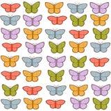 Teste padrão de borboletas colorido Fotos de Stock Royalty Free