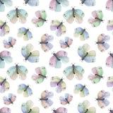 Teste padrão de borboletas colorido ilustração do vetor