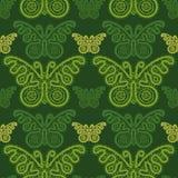 Teste padrão de borboletas do verão ilustração stock