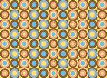 Teste padrão de círculos coloridos. Arte do vetor Fotografia de Stock