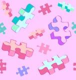 Teste padrão de caída sem emenda do autismo do enigma Fotografia de Stock